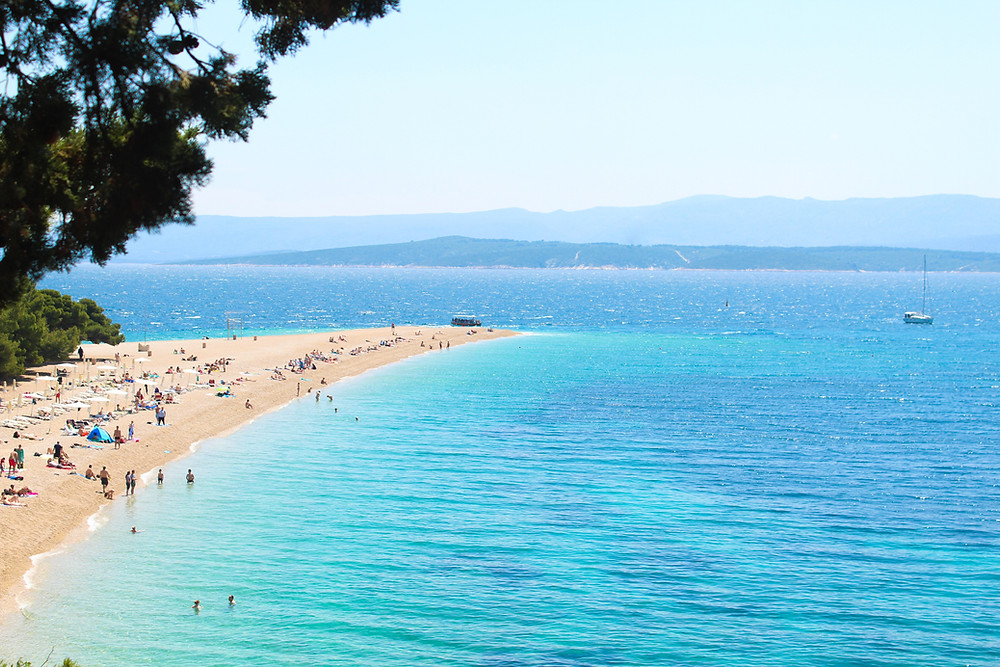 Zlatni Rat Beach on the island of Brac, Croatia