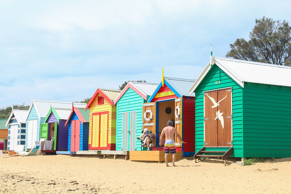 Beach boxes at Brighton Beach, Melbourne