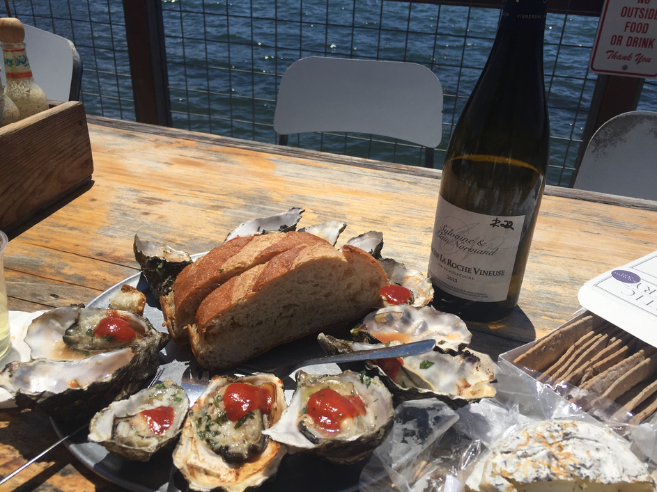 BBQ OYSTERS + SUNSHINE = HAPPINESS