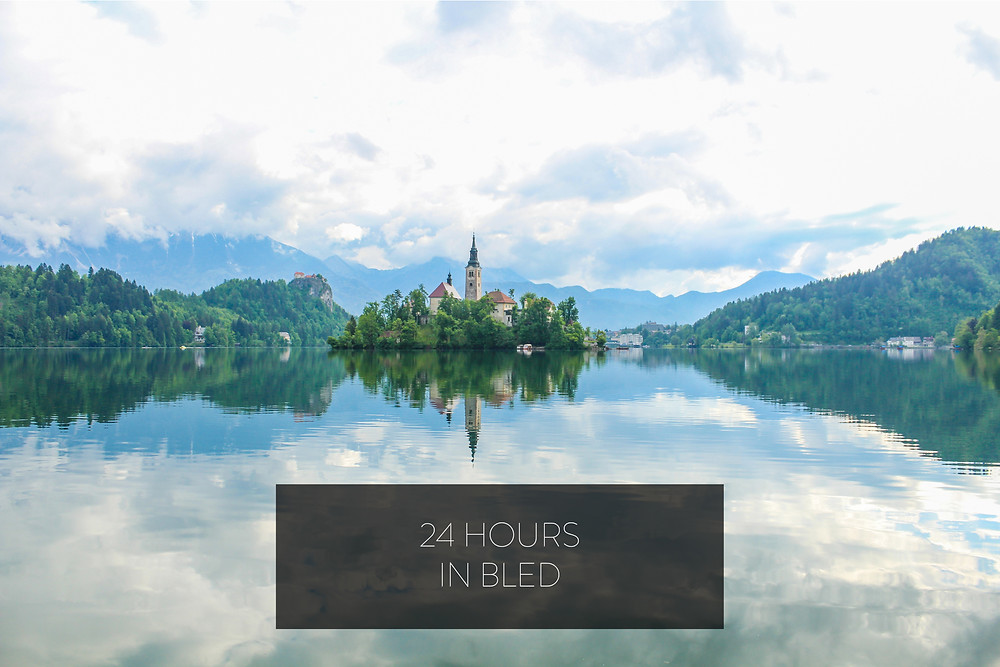 Lake Bled floating in the clouds