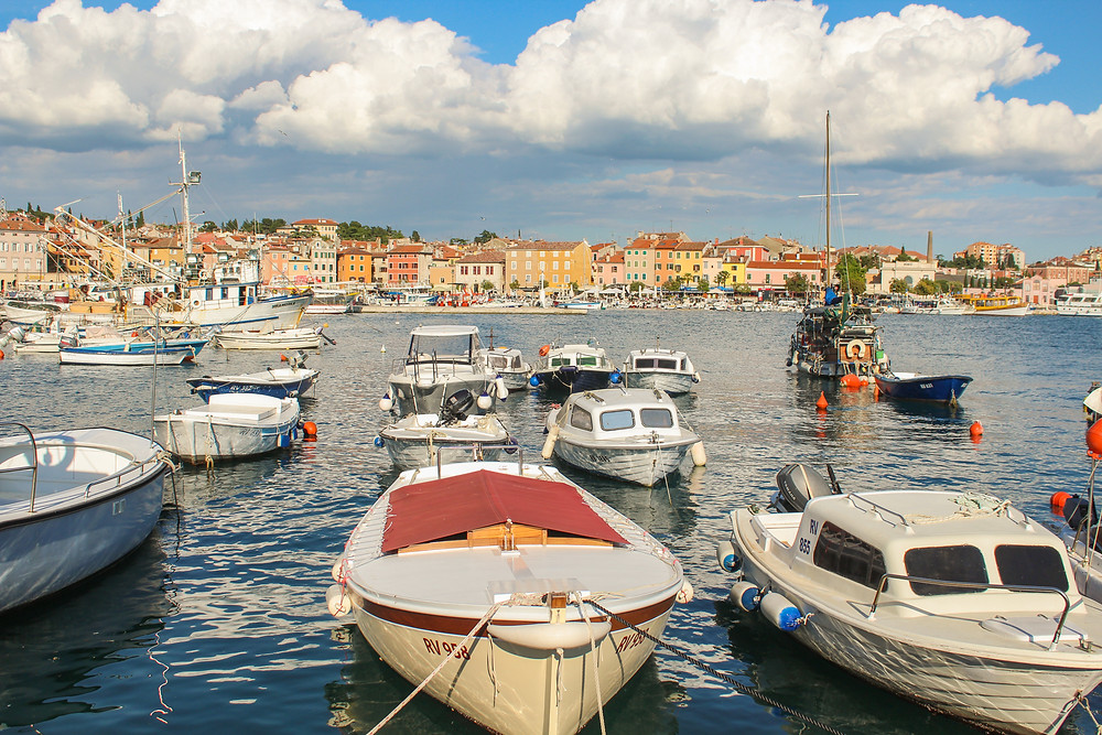 Harbor in Rovinj, Croatia