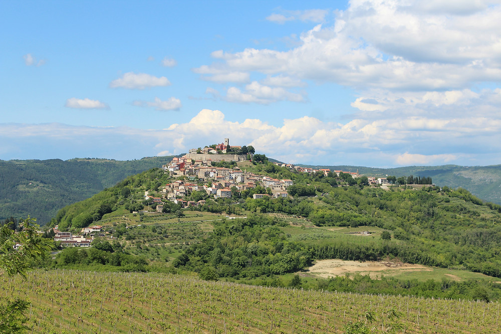 Charming hilltop town of Motovun, Croatia