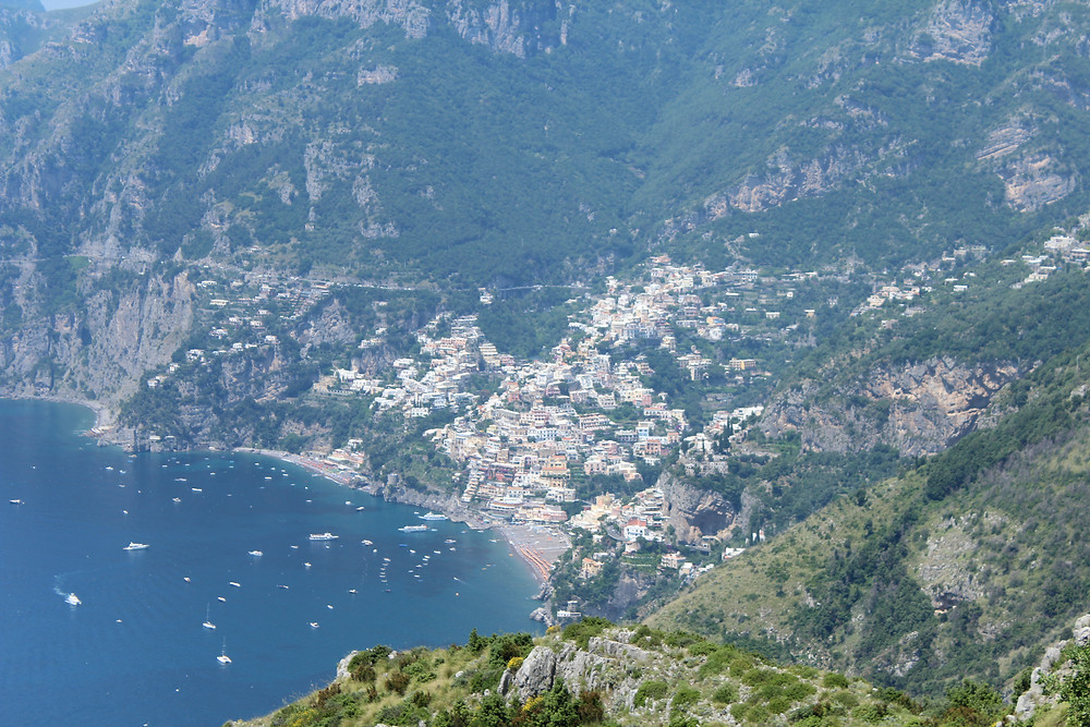 Positano from Above | Sentiero Degli Dei Hike, Amalfi Coast