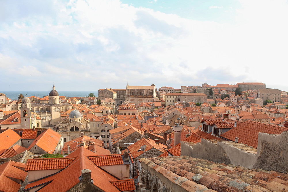 Tiled rooftops of Old Town Dubrovnik, Croatia