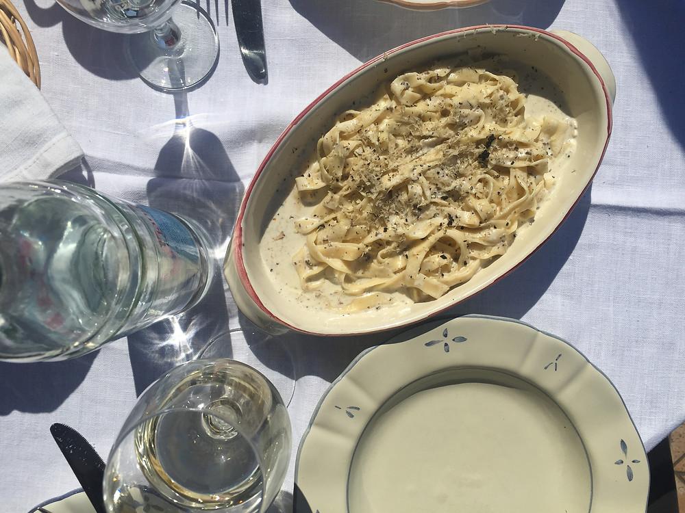Pasta w/ Black Truffle at Pod Napun in Motovun