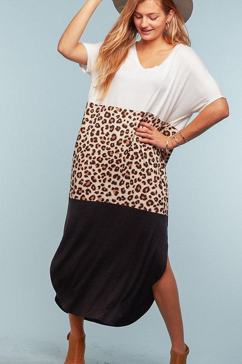 Maxi leopard color block (oversized)