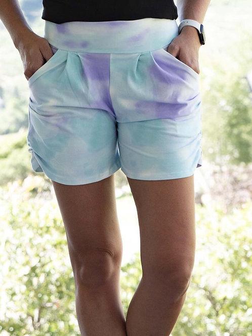 Tie die signature shorts