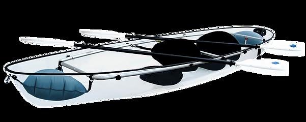 Kayak transparent Polynésie