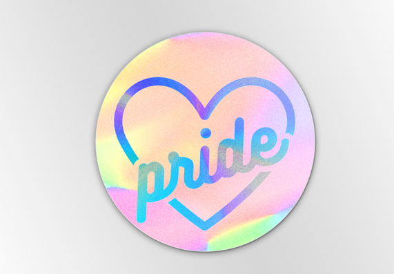 Pride Heart Holographic Sticker