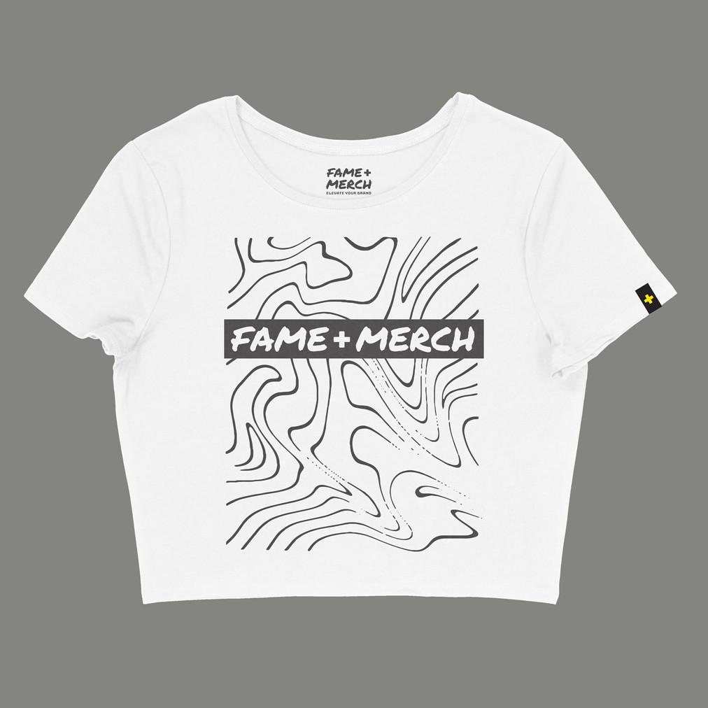 Fame+Merch White Crop Top