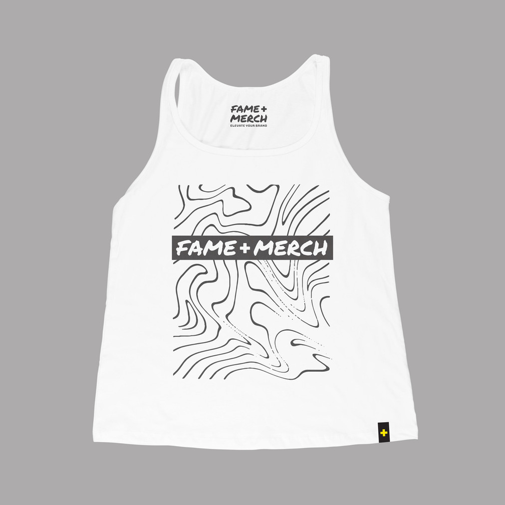 Fame+Merch White Tank