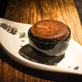 Lavender Dark Chocolate souflé
