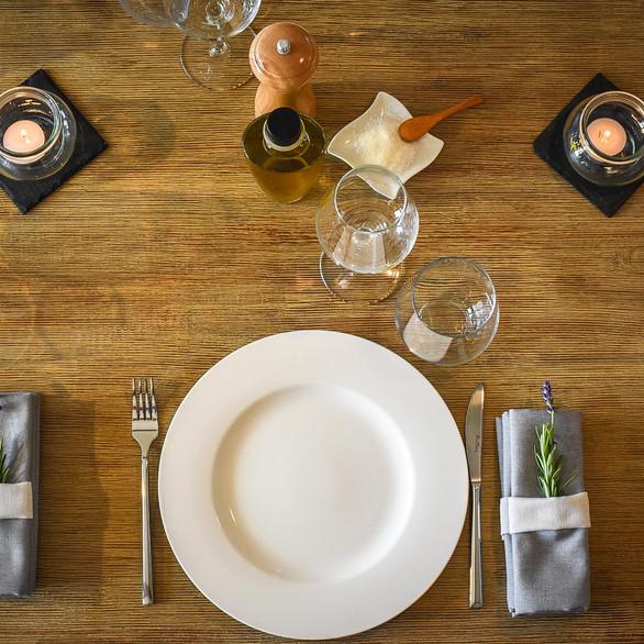 Tasting menu - Set Up