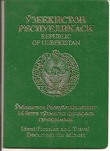 Перевод узбекского паспорта на русский