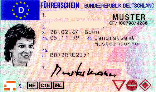 Перевод водительского удостоверения Германии
