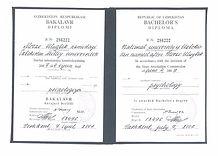 Перевод диплома Узбекистан