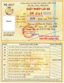 Перевод водительского удостоверения Вьетнам