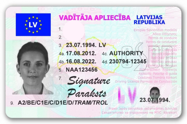 Перевод водительского удостоверения Латвии