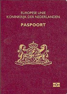 Паспорт гражданина Нидерландов