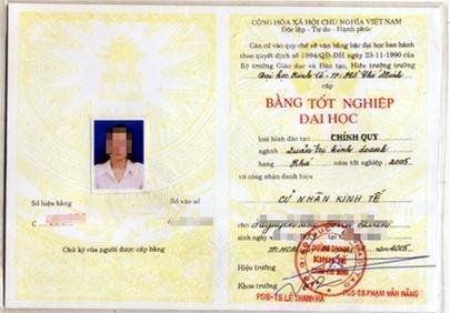 Перевод диплома полученного во Вьетн