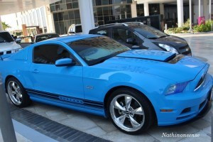 the blue mustang!