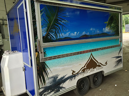 Catering Trailer Printed Wrap