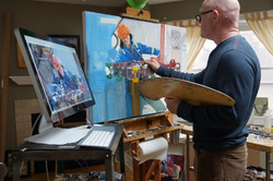 Joe painting