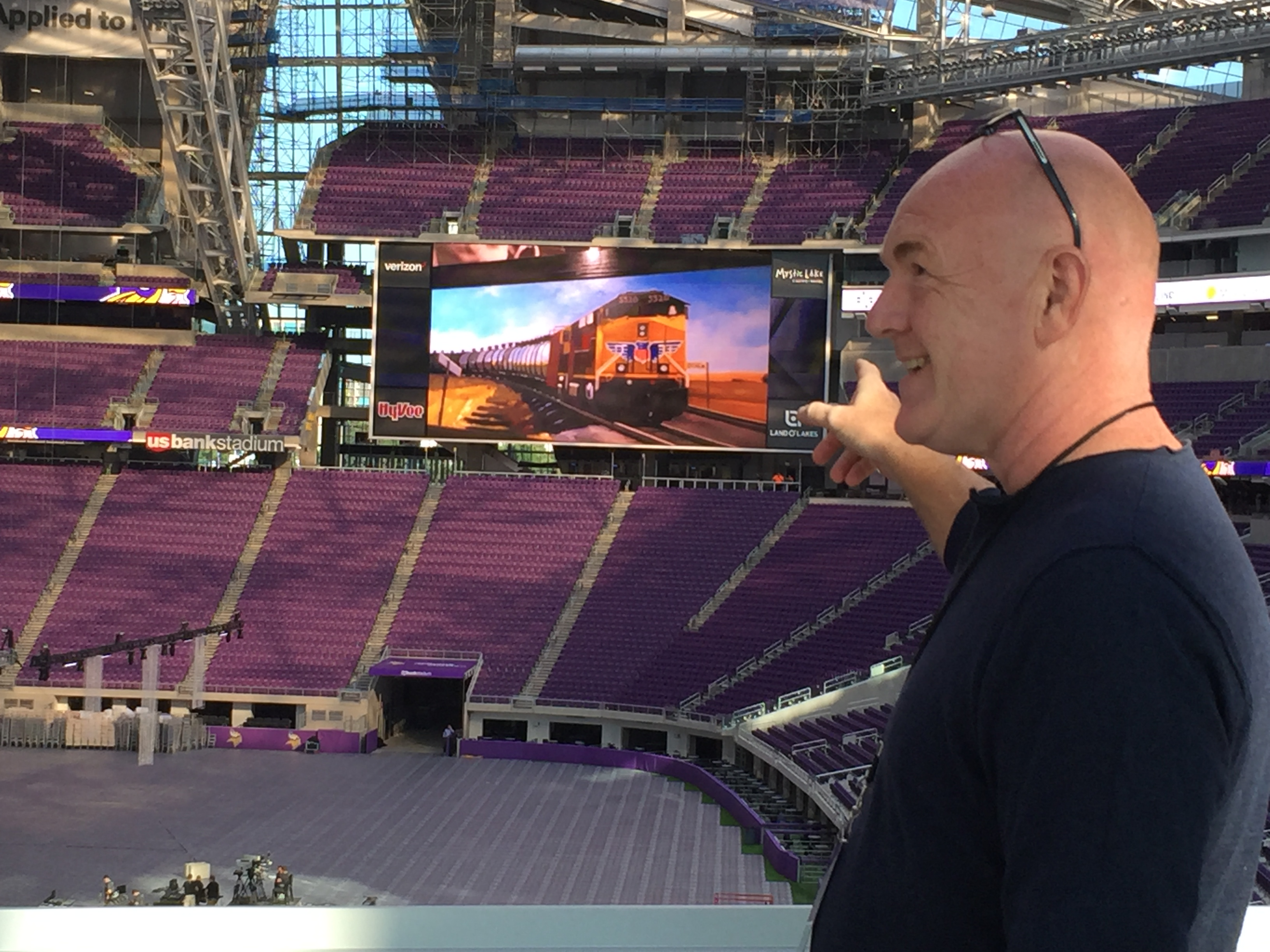 At the Vikings Stadium