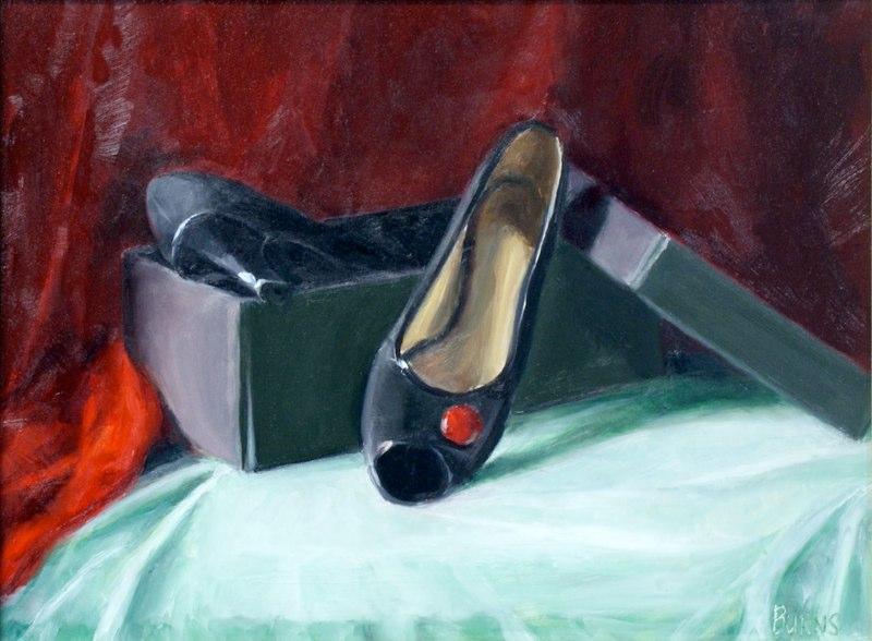 Red shoes color study
