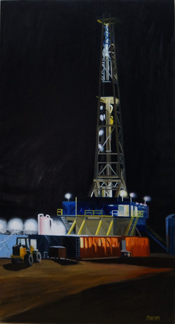 Night Time Drill Rig