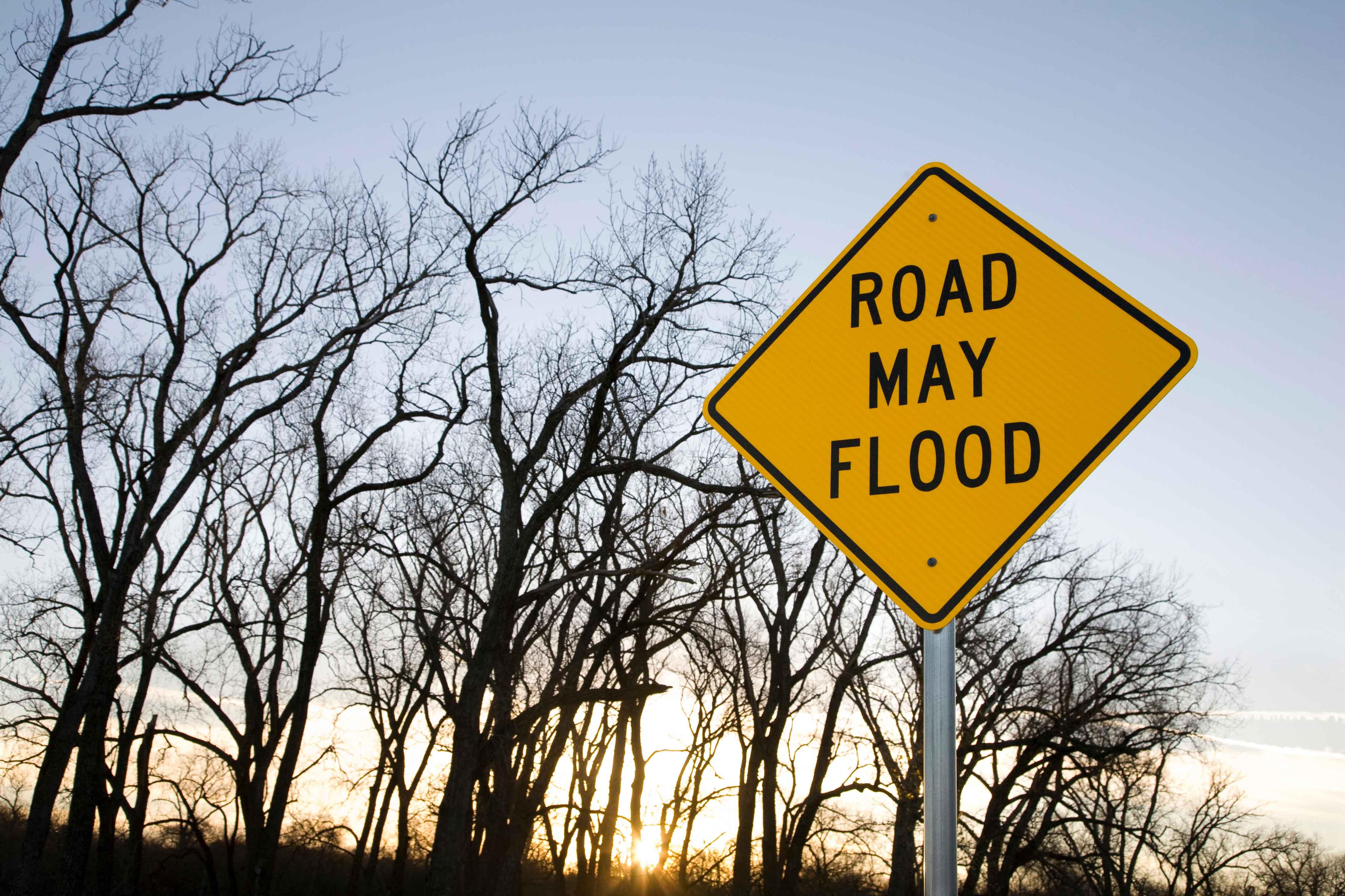 Flooded Road Signage