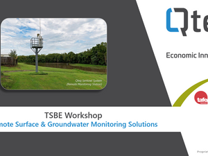 Workshop: Remote Surface & Groundwater Monitoring Solutions