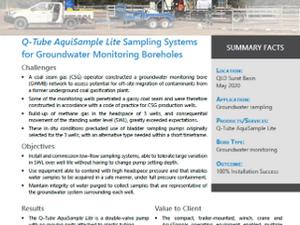Successful Q-Tube AquiSample Lite Installations