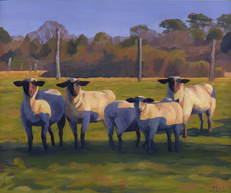 Flat Point Flock #5 or Four Facing Front.jpg