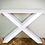 Thumbnail: שולחן רגלי איקס עץ אלון מלא מידות לבחירה