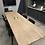Thumbnail: שולחן רגלי טרפז עץ אלון מלא מידות לבחירה