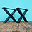 Thumbnail: רגלי איקס - יחידה גובה לבחירה צבע שחור/לבן