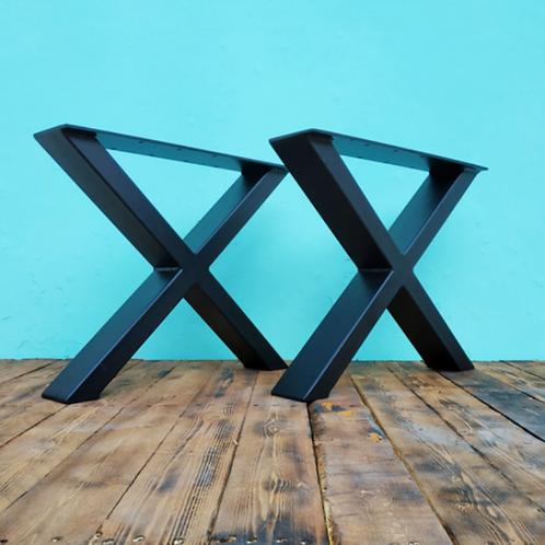 רגלי איקס - יחידה גובה לבחירה צבע שחור/לבן