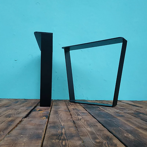 רגלי טרפז - יחידה גובה לבחירה צבע שחור/לבן