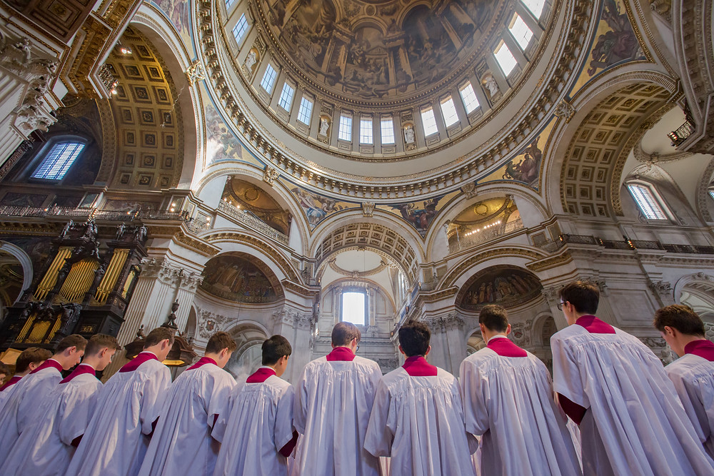The Tenors and Basses at St Paul's Cathedral