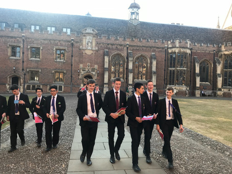 Older members of the Schola visit St John's College, Cambridge
