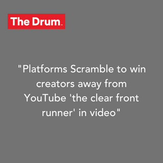 Platforms Scramble to Win Creators away from YouTube 'the clear front runner' in Video