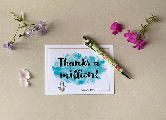 Thanks A Million! A6 Greetings Card