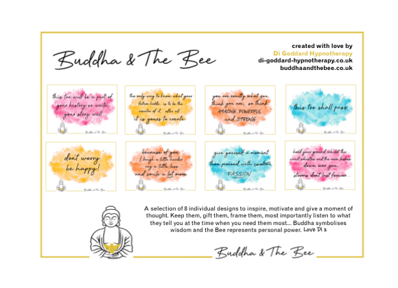 Buddha & The Bee Pack of 8 A5 Prints