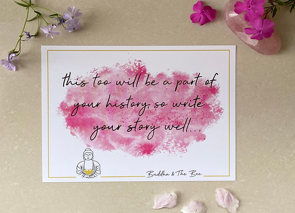 Buddha & The Bee Write Your Story Well A5 Print