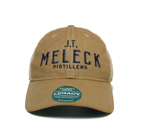 JT Meleck Distressed Khaki Trucker Hat