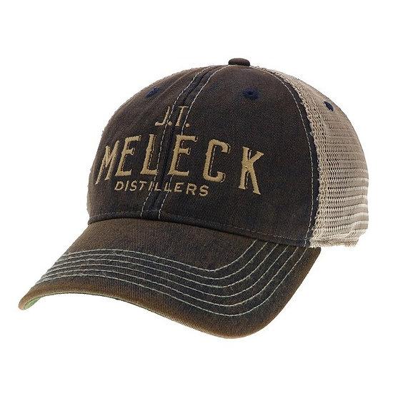 JT Meleck Distressed Navy Trucker Hat