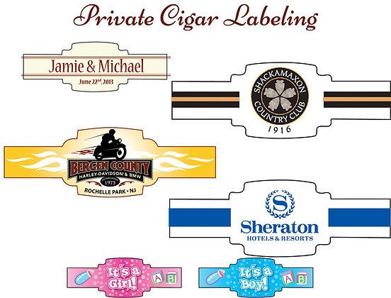 Custom Labeled Cigars