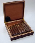 5 Cigars in a Cherry Wood Humidor