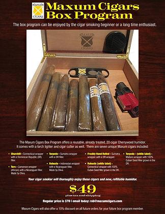 Maxum Cigars Box Program